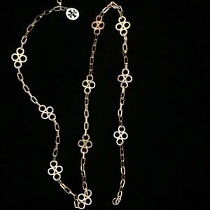 "Tory Burch Vintage Chain Clover Rosary - 42"" Long"